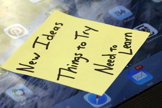 Photo of a sticky note on my iPad